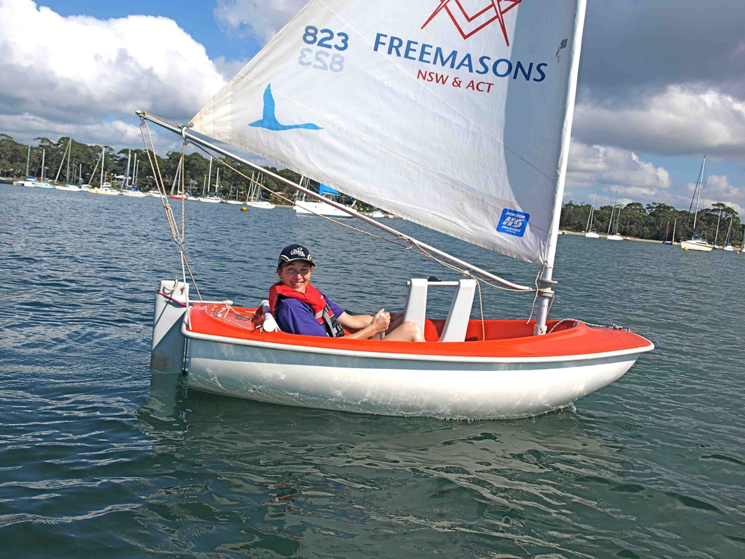 Ms Wheelie in Access Class Sailability boat.
